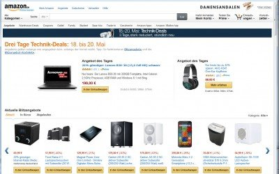 Amazon Ansicht