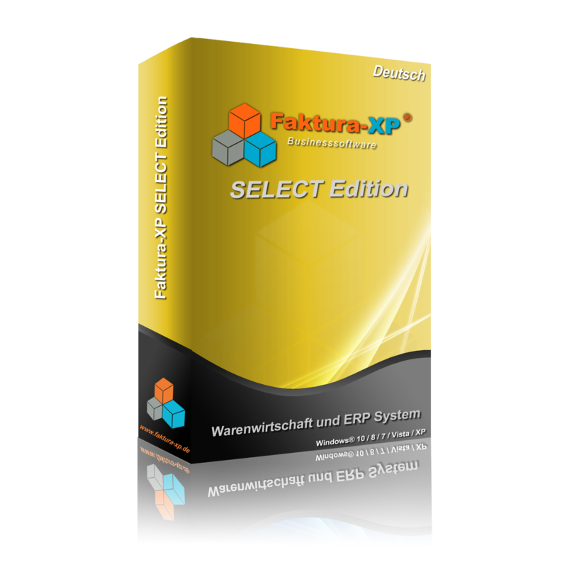 Faktura-XP SELECT Edition Karton (nur zur Darstellung)