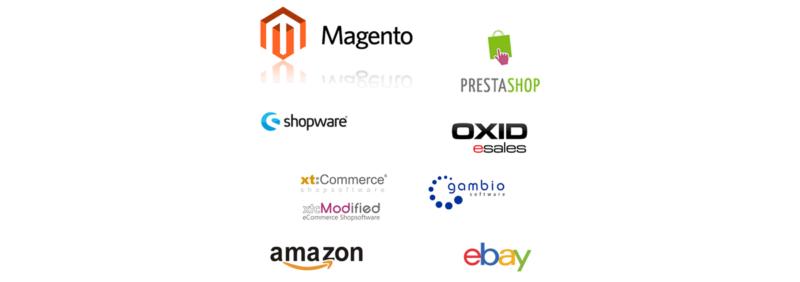 Shopanbindung mit vielen Schnittstellen zu Onlineshops und Portalen