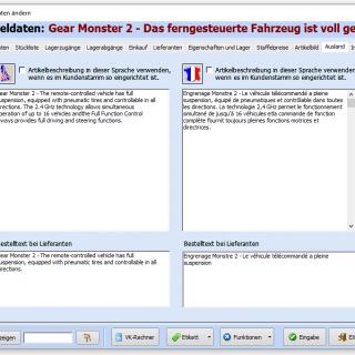 Artikeltexte in verschiedenen Sprachen