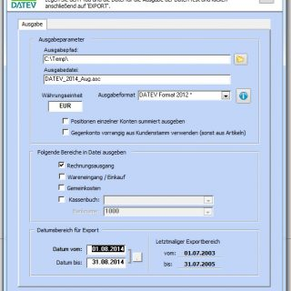 DATEV Export in mehrere CSV Formate