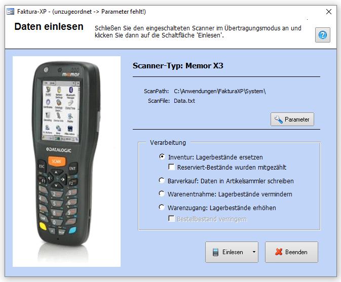 Inventur und Verkauf mit MDE Gerät bzw. Scanner