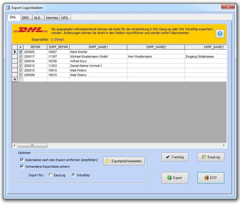 Logistik für DHL, DPD, GLS, UPS, Hermes