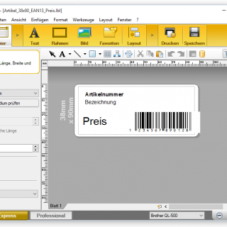 Etikettenverarbeitung intern und extern