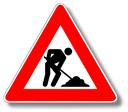 Baustellenschild - Seite noch in Arbeit 128